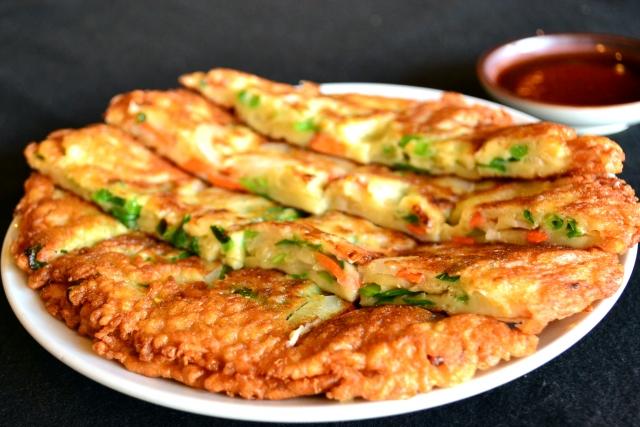 得する人損する人海鮮チヂミのレシピ!コンビニの冷やし中華で!